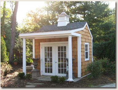 Forget having an office on the inside.  I want a mini house of my own.