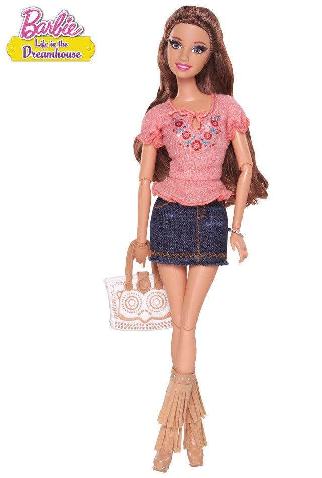 Boho chic goes breezy beautiful in this fun outfit inspired by the hit Barbie web series. Barbie™ Life in the Dreamhouse Teresa® Doll. with extra outfit