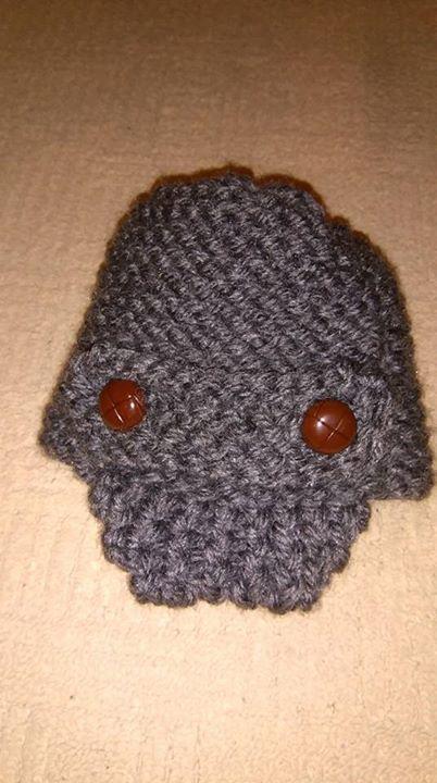 Baby visor hat loom knitted by Cheryl P