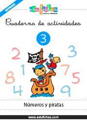 Cuadernillo de los números bilingüe. enlace pdf directo http://www.edufichas.com/wp-content/uploads/2015/04/mn-03-cuadernillo-numeros-piratas.pdf