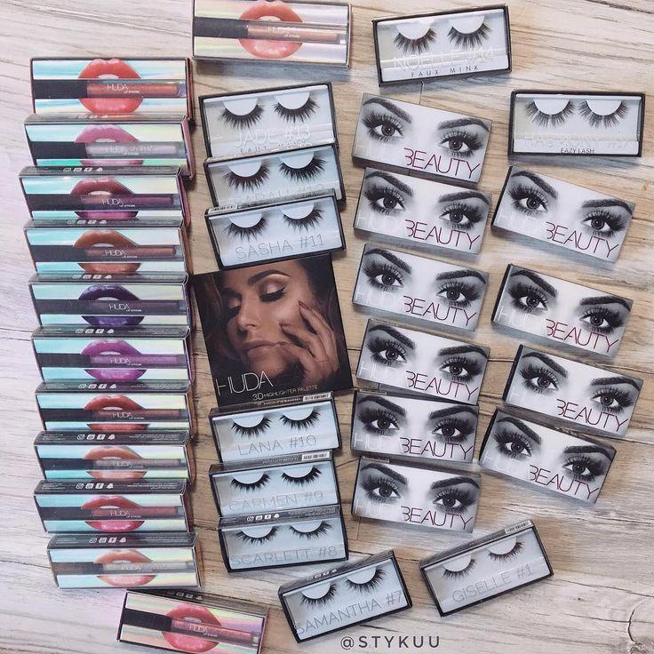 """Thank you @hudabeauty ❤️�� """"Mały"""" prezent od @hudabeauty czyli 20 par rzęsek, rozświetlacz oraz cała nowa kolekcja kultowych pomadek z chromowanymi pigmentami ��❤️ Najlepsze produkty do makijażu jakie miałam okazję testować! ������ #hudabeauty #huda #beauty #cosmetics #makeup #falseeyelashes #highlighter #lipgloss #lipstick #mattelips #gift #thanks #makijaz #sztucznerzesy #rzesy #pomadki #blyszczyk #rozswietlacz #kosmetyki #loveit…"""