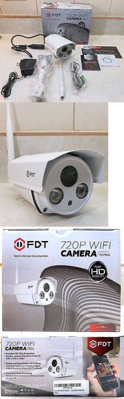 Security Cameras: Fdt 720P Hd Wifi Bullet Ip Camera (1.0 Mp) Outdoor Wireless Security Camera BUY IT NOW ONLY: $49.99