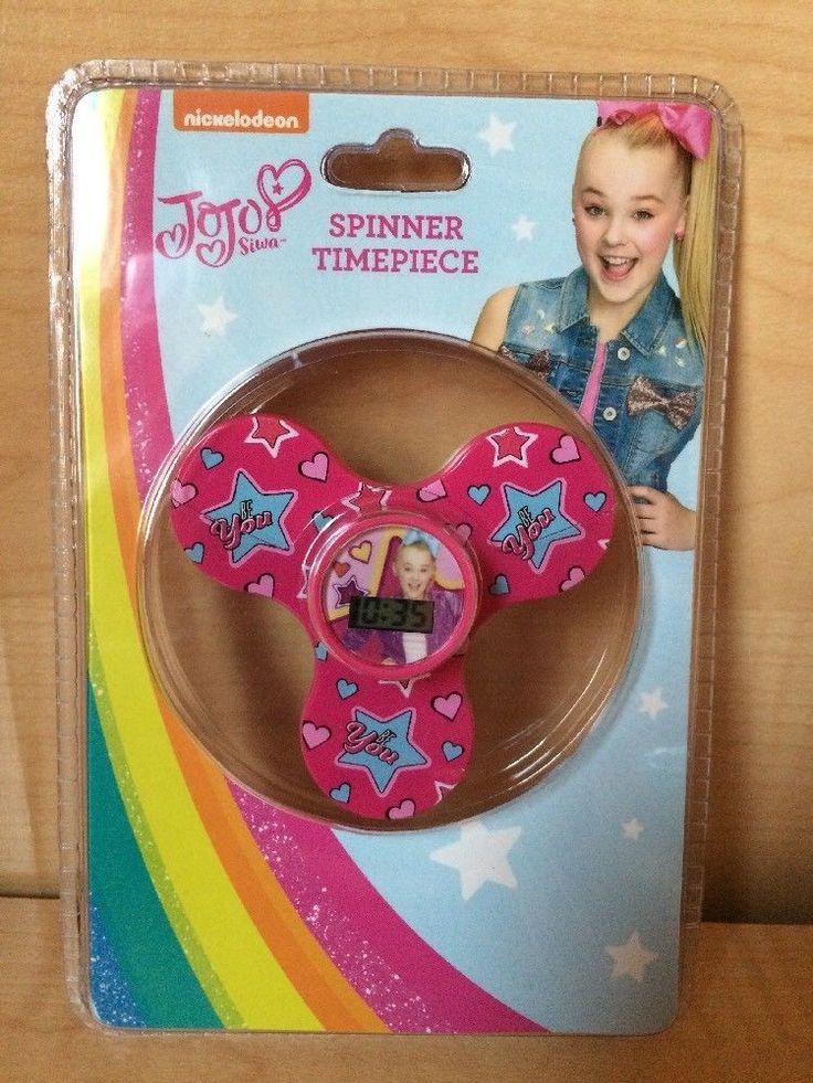 Jojo siwa  Fidget Spinner With Clock Electronic Timepiece Watch New Be You #Viacom