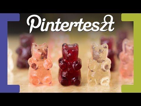 Szilveszteri Pinterteszt #13 - Gumimaci borból és pezsgőből (Wine and Champagne Gummy Bears) - YouTube