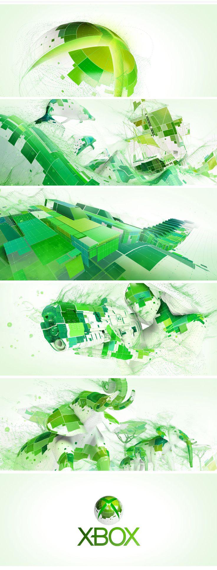 motion graphics/ storyboards/ styleframes | XBOX - carlosstevens.com