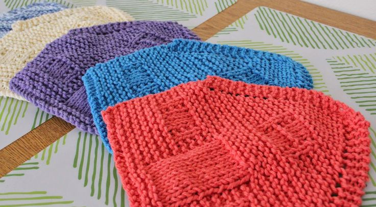 The Fuzzy Square: Knit House Dishcloths in Printable House Gift Boxes