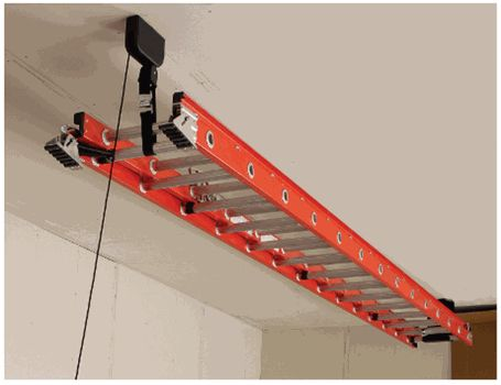Garage Ladder Lift Great Ideas Garage Garage