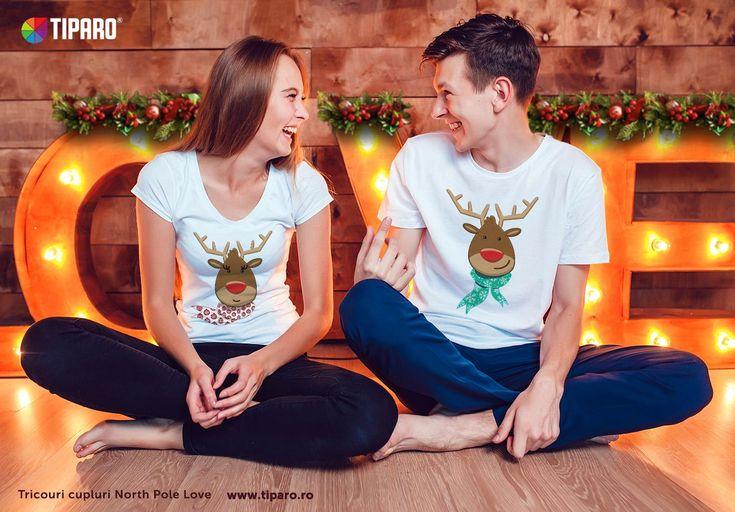 Daca nu mergeti la o petrecere de Craciun, puteti purta acasa tricourile de cuplu North Pole Love si acasa, cand primiti musafirii. Veti fi originali si simpatici :)    Setul de 2 tricouri costa 135 lei si il gasesti aici: https://www.tiparo.ro/tricouri-personalizate/tricouri-craciun/set-tricouri-cuplu-north-pole-love     Colectia noua de Tricouri Craciun : https://www.tiparo.ro/tricouri-personalizate/tricouri-craciun/set-tricouri-cuplu-north-pole-love