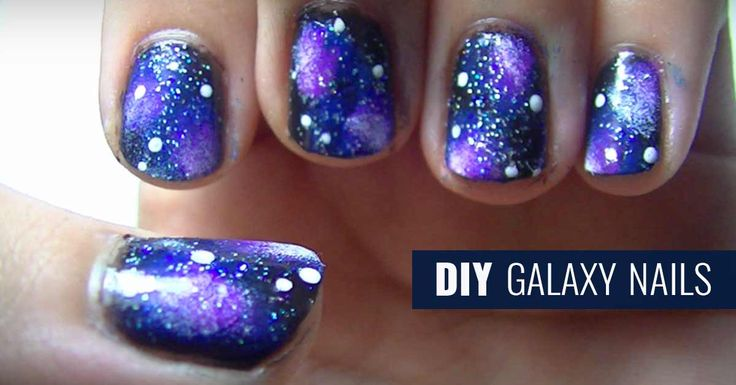 DIY Galaxy Nails Tutorial - Youtube Video Instructions for Galaxy Manicure - Fun DIY Projects for Teens