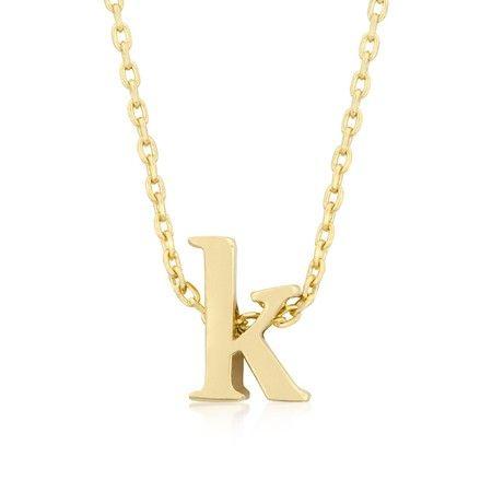 Gold Letter K Necklace! #InspiredSilver #Necklace #letterNecklace