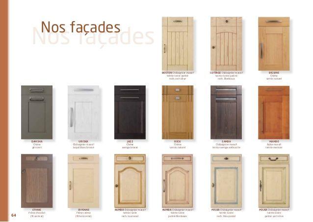 Facade porte de cuisine for Facade cuisine bois