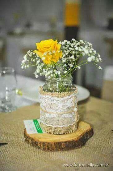 Centro de mesa rustico para casamento pesquisa google - Centro de mesa rustico ...