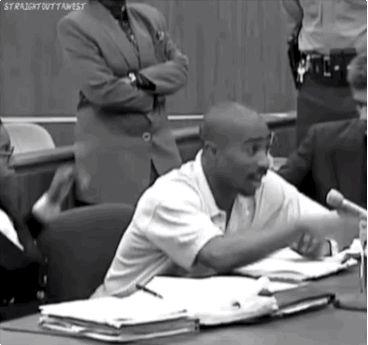 thugville:  Pac shuttin shit down in court.