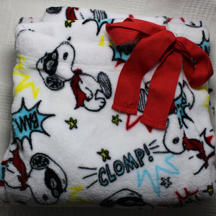 Snoopy Pajama Lounge Pants Sleepwear Bottoms White Medium Size 8 to 10 #Peanuts #LoungePantsSleepShorts