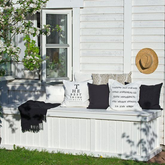 Bygg en sittebenk med oppbevaringsplass