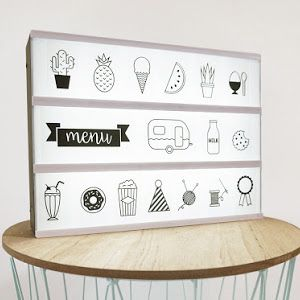 DIY lightbox symbolen - www.sproetesnoet.be