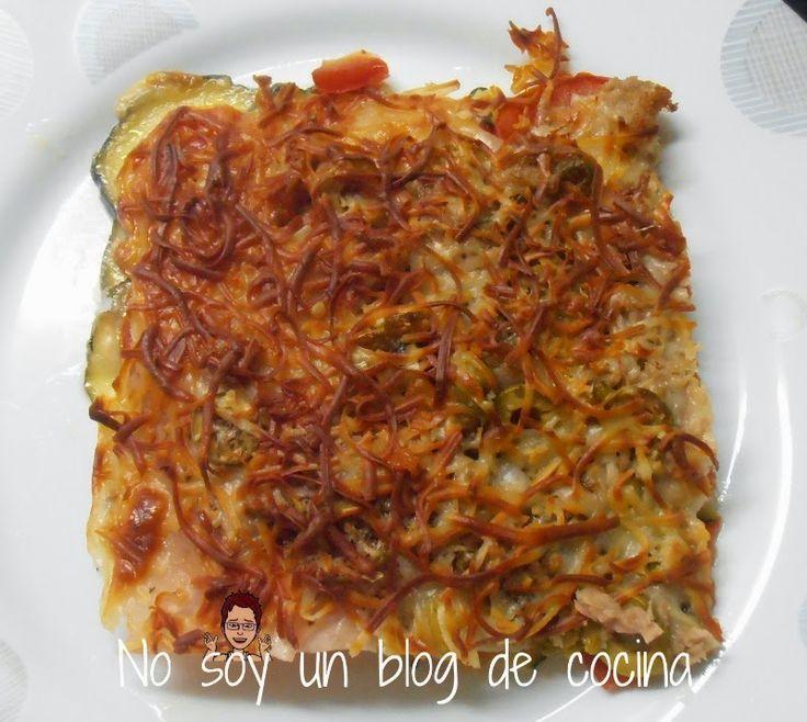Pizza de calabacin ✿⊱╮Teresa Restegui http://www.pinterest.com/teretegui/✿⊱╮