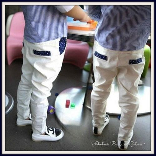 Boys Formal Casual Children Kids White Smart Trousers #Notspecified