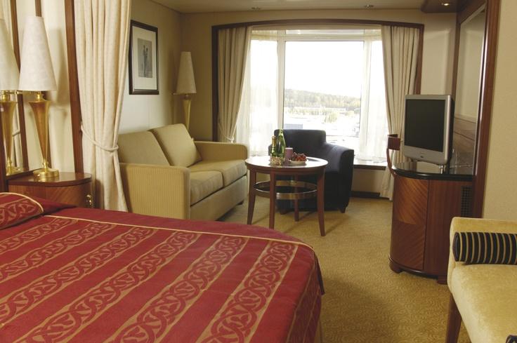 Die exklusiven Color Suite Kabinen bieten einen herrlichen Meerblick.
