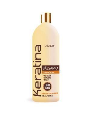 Укрепляющий бальзам-кондиционер с кератином Kativa для всех типов волос KERATINA, 500 мл