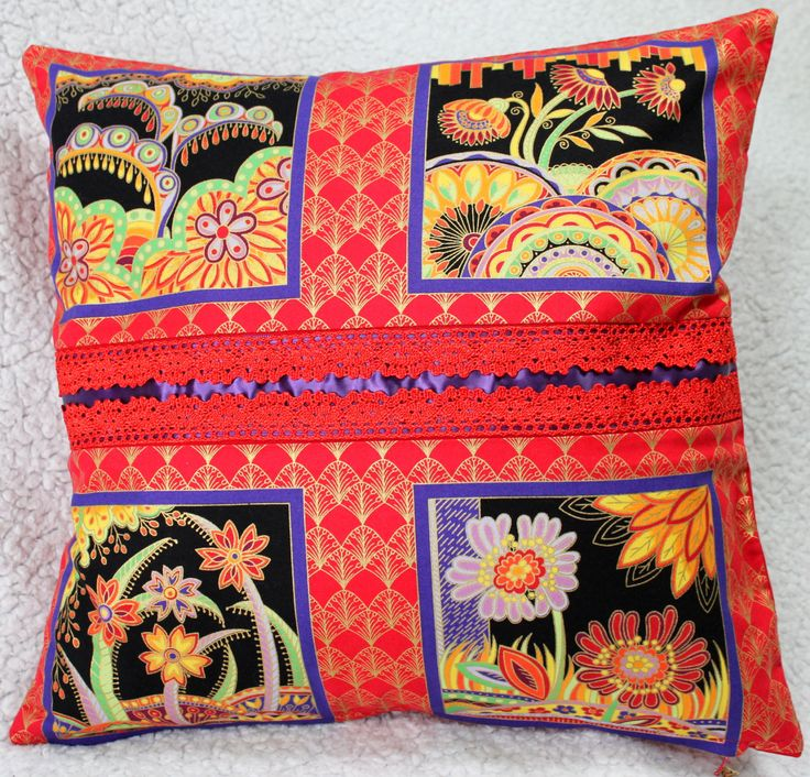 Red Cushion Cover, Purple Cushion Cover, Living Room, Conservatory, Housewarming Gift, Birthday Gift by C4Cushions on Etsy