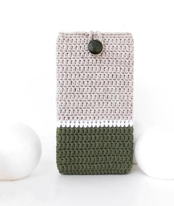 Oneplus 7 Pro Sleeve Olive Iphone 6s Cover Vegan Nokia 6 Phone Sock Color Block Samsung A70 Case In 2020 Iphone 6s Covers Oneplus Crochet Phone Cases