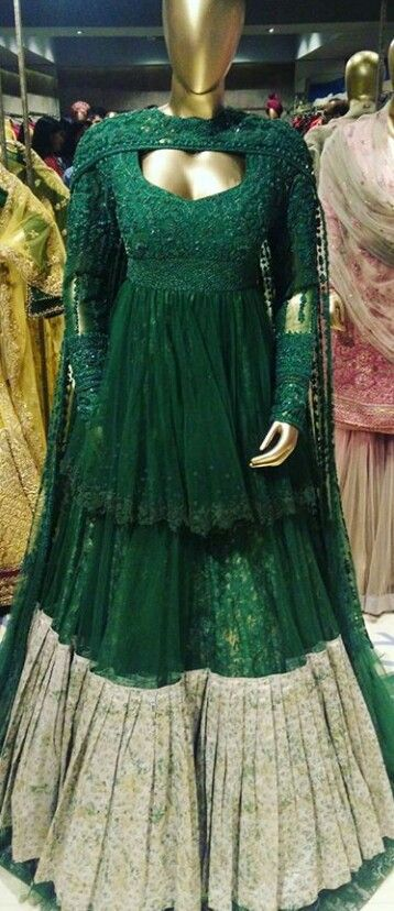 Because of the trends changing in the market, it is also included into lehengas. These lehengas are stitched in the middle of the hem like a huge palazzo but look like lehenga as a whole. These are mostly used with long Kurtis and are usually worn by Muslim brides. #Bridalwear #lehenga #photography