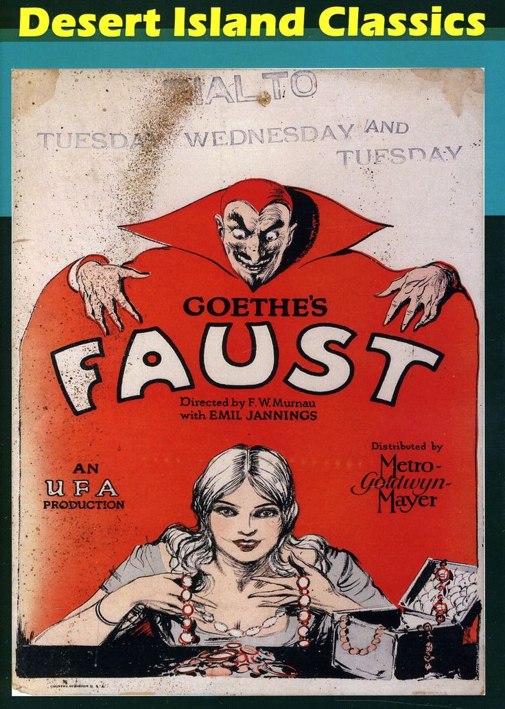 Murnau's FAUST stars the inimitable Emil Jannings as Mephistopheles, to whom the hapless and aging Faust sells his soul for renewed youth as well as wealth and power. Based on Goethe's interpretation