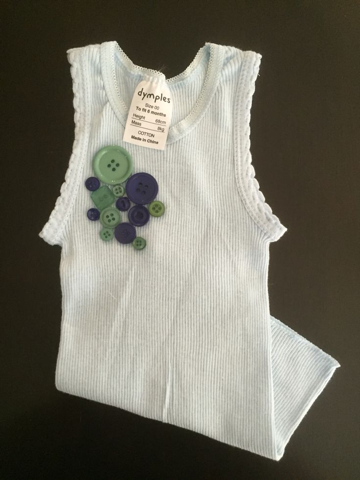 { B A B Y B O Y E M B E L L I S H E D S I N G L E T } Adorable blue singlet with embellished button detail, perfect gift for the little man! Singlet is sized 00 (6 Months). Item is made, ready to ship. https://www.etsy.com/au/listing/268593470/baby-boy-embellished-singlet #handmade #babyboy #adorable #buttons #blue #saxonandlola