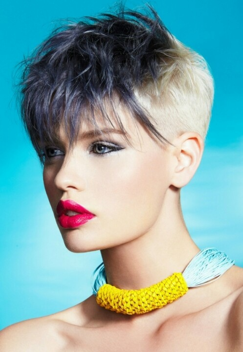 Two tone on short hair done right