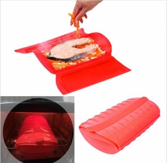 Microwave Steamer Cookware Oven Steamer cooking Bowl Healthy Silicone steam cooking – ZAZA 49