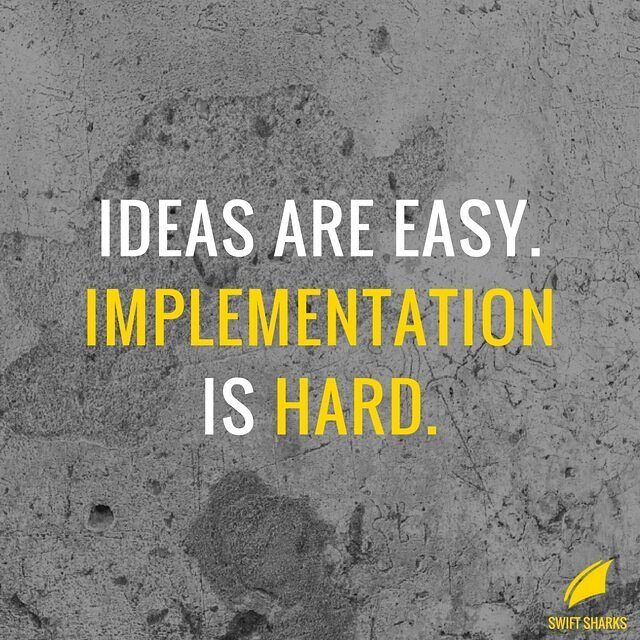 Everyone has ideas, but hardly anyone actually takes action and implements and experiments with their ideas. Focus on what matters: take action and implement your ideas!