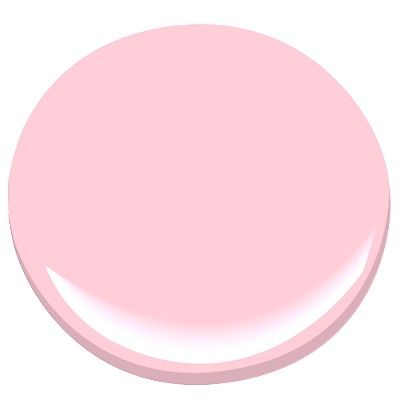 country pink - love this color with marshmallowy bunny for powder room - benjamin moore paint samples