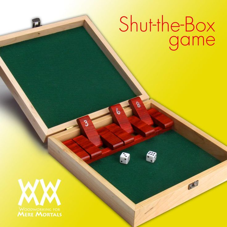 Shut the box game | DIY | Pinterest