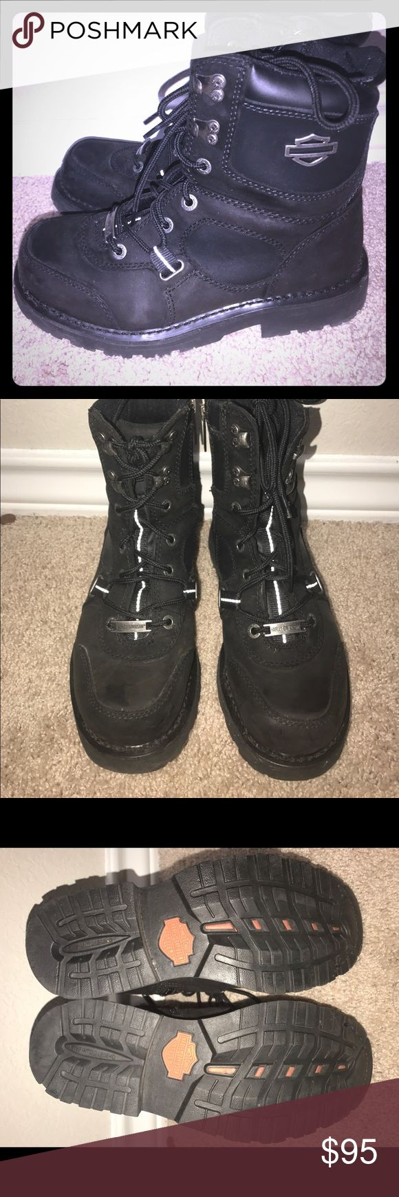 Harley Davidson Women's Boots size 9 Women's Harley Davidson boots. Size 9. Worn only a handful of times. They are in like new condition. Reasonable offers always considered! 🙂 Harley-Davidson Shoes Combat & Moto Boots