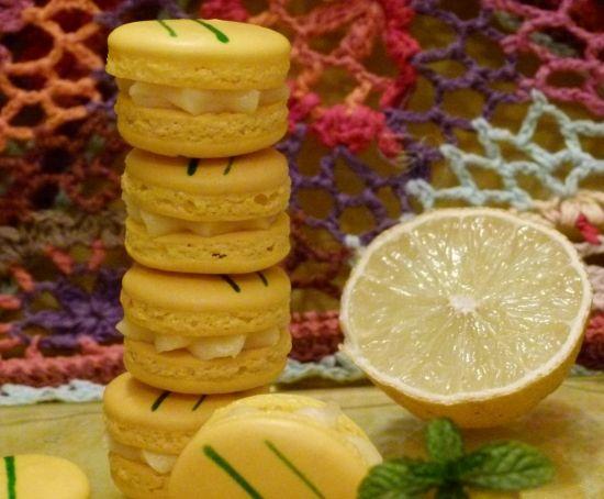 macarons citron menthe