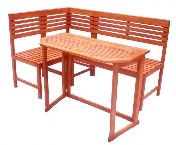 Balkon-Eckbank SANTA FE mit Tisch Garten & Handwerk Gartenmöbel Gartentische