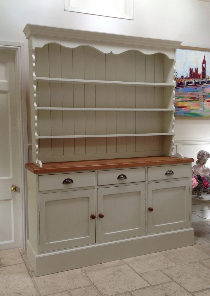 Solid Pine Welsh Dresser Sideboard Kitchen Unit Ebay Painted