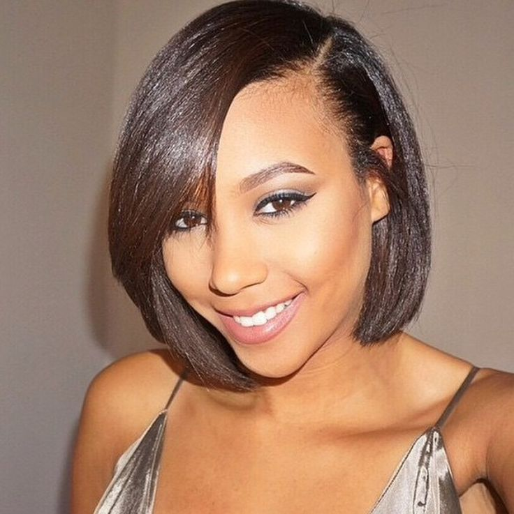 Hairstyles for black women with relaxed hair