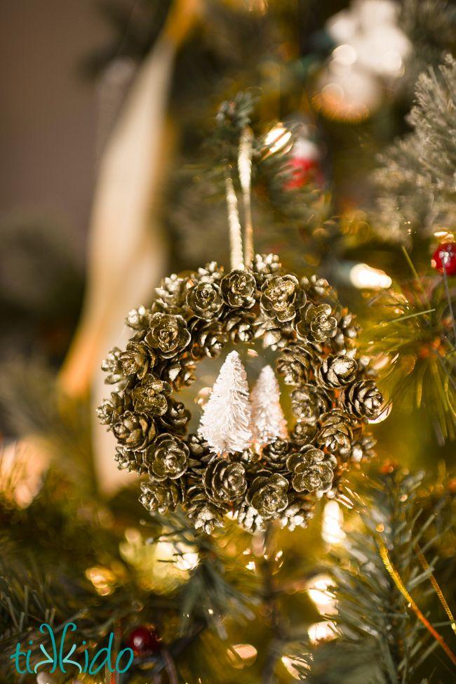 Pine Cone Wreath Ornament Tag Tutorial 118