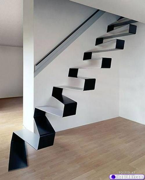 a zig and a zag stairs