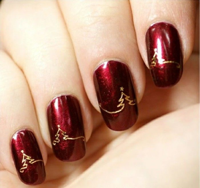 16 best ongles de nol images on pinterest christmas nails nail jolie deco ongle noel ide nail art simple prinsesfo Gallery