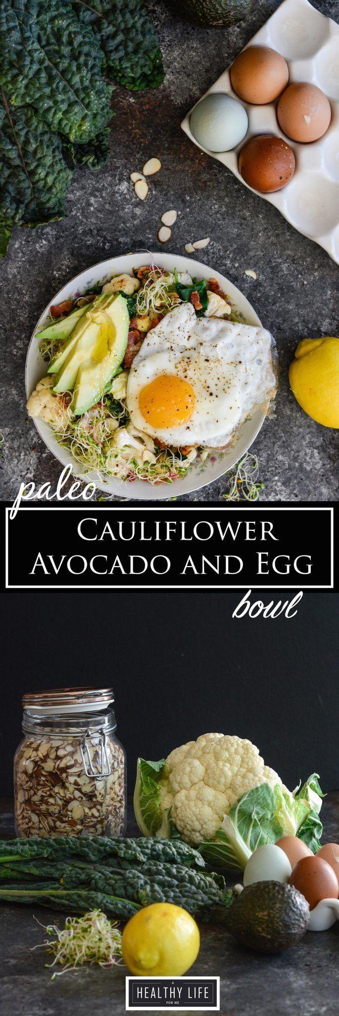 Paleo Cauliflower Avocado and Egg Bowl Recipe | Whole30 Recipe | Paleo Recipe | Gluten Free Recipe | Healthy Recipe | Bowl Recipe | Ready in less 30 Minutes