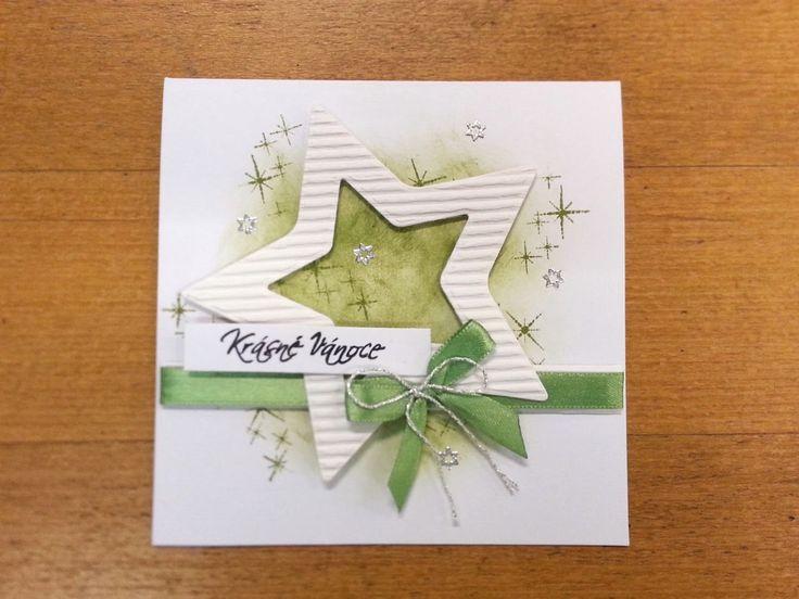 V jednoduchosti je síla    aneb jak udělat krásná vánoční přáníčka bez vyřezávacích šablon a jiných speciálních udělátek :D     Když jsem...