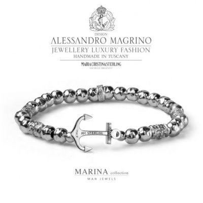 Shop Online   MARIA CRISTINA STERLING BRACCIALE ANCORA MARINA G3611