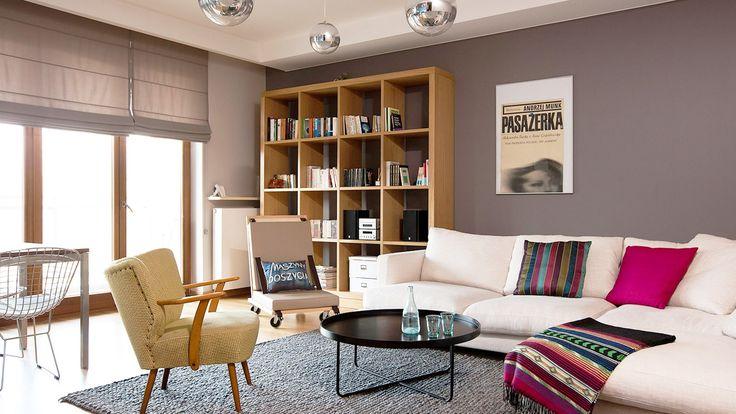 Szary salon - zdjęcie od 2bedesign - Salon - Styl Eklektyczny - 2bedesign