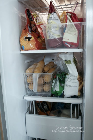 Fridge/Freezer Organizing from Living Savvy - Need this for the chest freezer downstairs!