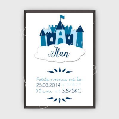 Poster Enfants #4 - Château (Castle)