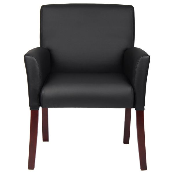 Boss Caressoft Reception Box Arm Chair - Overstock™ Shopping - The Best Prices on Boss Visitor Chairs