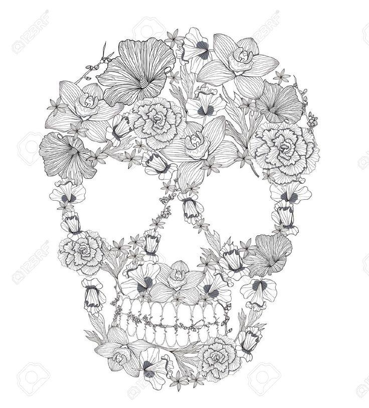 Floral Skull Tattoo Buscar Con Google Imagenes De Arte